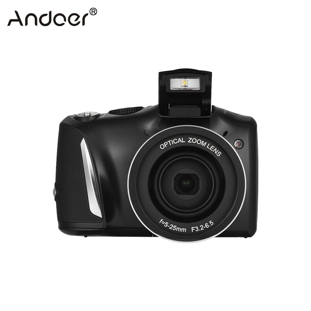 Andoer Digital Camera 24MP 720P HD Digital Camera Vlogging Camcorder Video Recorder 20X Zoom + 3.5inch IPS Display + Flash Light