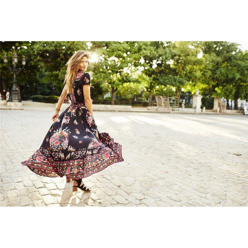 Nibesser Summer Boho Dress Ethnic Y