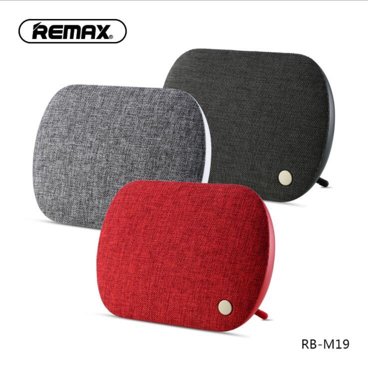 REMAX-M19 Bluetooth 4.2 haut-parleur Portable sans fil tissu stéréo musique basse HD système de son haut-parleur avec Bluetooth TF AUX USB