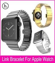 Alta calidad hoco apple watch enlace pulsera de banda de 42mm correas de reloj con función de liberación rápida de acero inoxidable de plata de oro