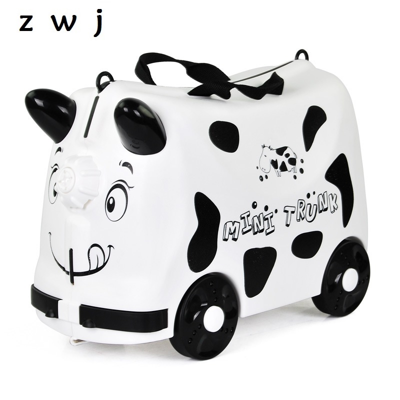 Kids Toys Trolley Suitcase boys girls Luggage Bag Wheels Travel Case Children s Scooter Suitcase
