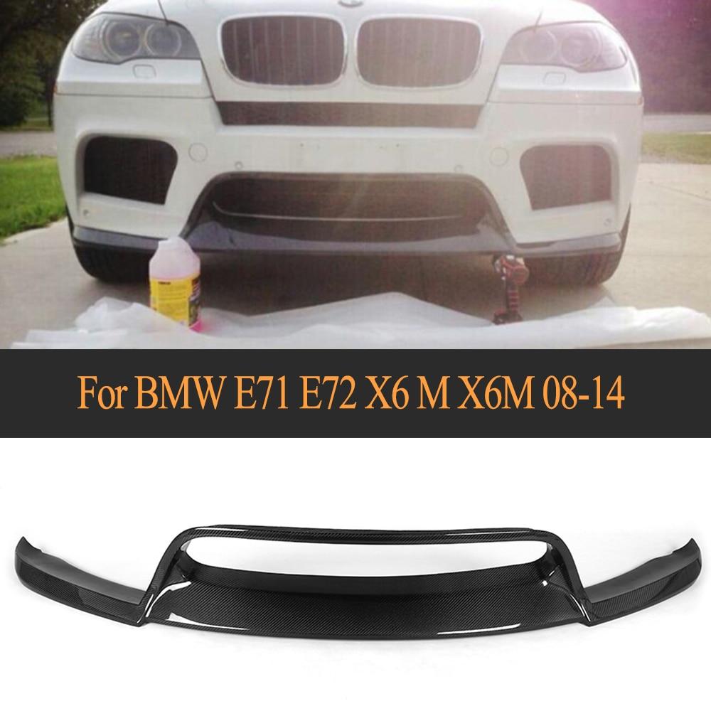 Передний бампер из углеродного волокна, спойлер для BMW E71 E72 X6 M X6M бампер 2008 2014, не спортивный стандартный автомобильный Стайлинг
