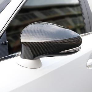 Image 2 - QHCP คาร์บอนไฟเบอร์วัสดุ 2 ชิ้น/เซ็ตกระจกมองหลัง COVER Protector สีดำสำหรับ Lexus IS300 200T 250 GS300 CT200 RC 2013 2019