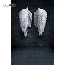 Laeacco Old White Wings Dark Color Wall Brick Floor Photography Backgrounds Customized Photographic Backdrops For Photo Studio