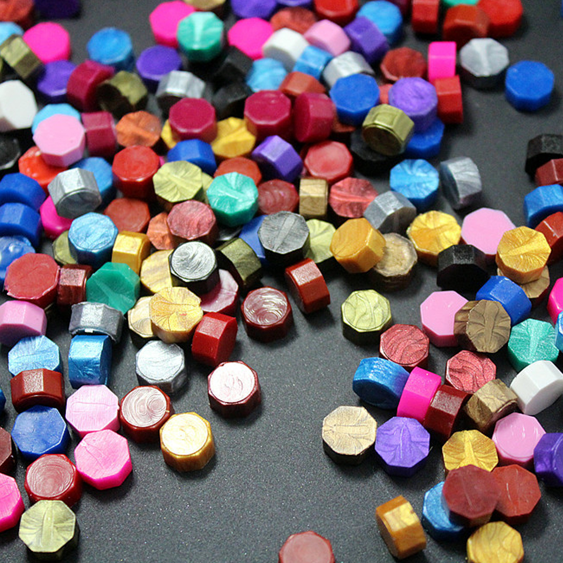 100 PCS Multicolor Stamps Sealing Wax granule In bulk beads/strip Documents Stamp supplies wax seal tablet pills