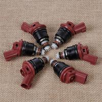 DWCX 6x New Flow Matched Fuel Injector 842 18114 16600 53J03 for Nissan Altima 300ZX 3.0L For Infiniti I30 J30 Maxima Sentra