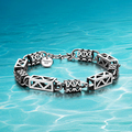 Individual character style;Thai silver men's bracelet 925 sterling silver bracelets men;Men sterling silver chain bracelet