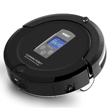 Amtidy A325 floor cleaning robot black , auto recharge wireless vacuum cleaner