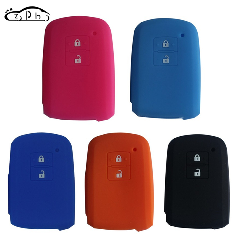 1x 2 Buttons Silicone Key Cover Shell Case Fob For Toyota Camry RAV4 Auris Yaris