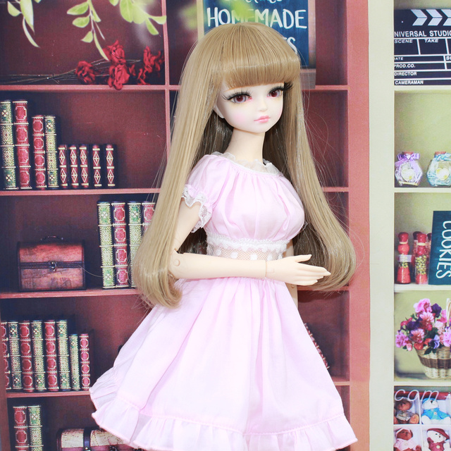 Clothes for 1/4 BJD 45cm Jiont Body Pink Maid's Outfit with Apron Forturn Days Free Shipping