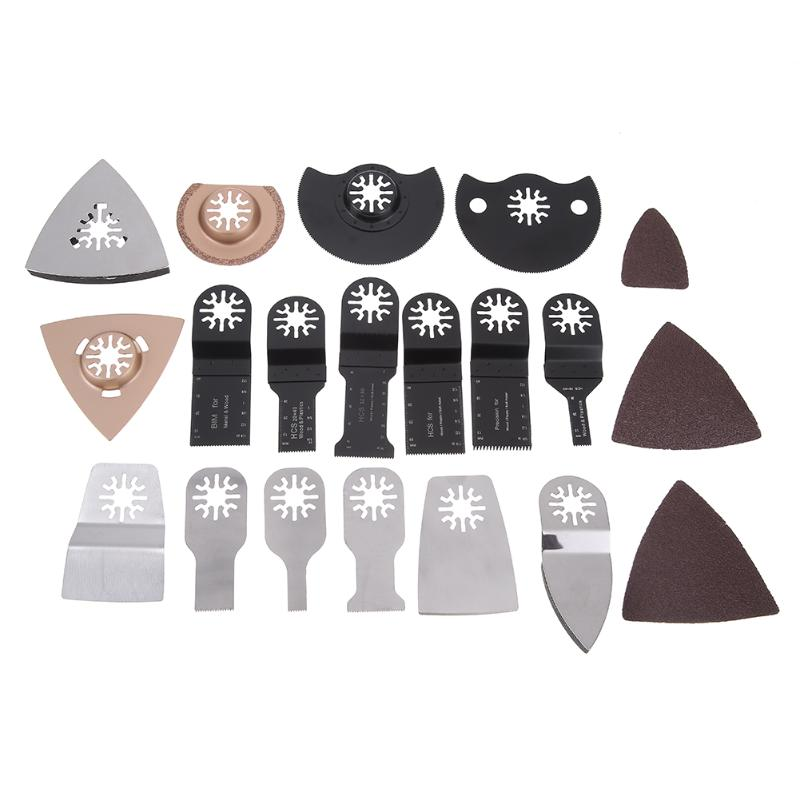100 pièces/ensemble haute qualité HCS trou Mini coupe lame de scie bord grattoir maison bricolage outil oscillant outils électriques ménagers
