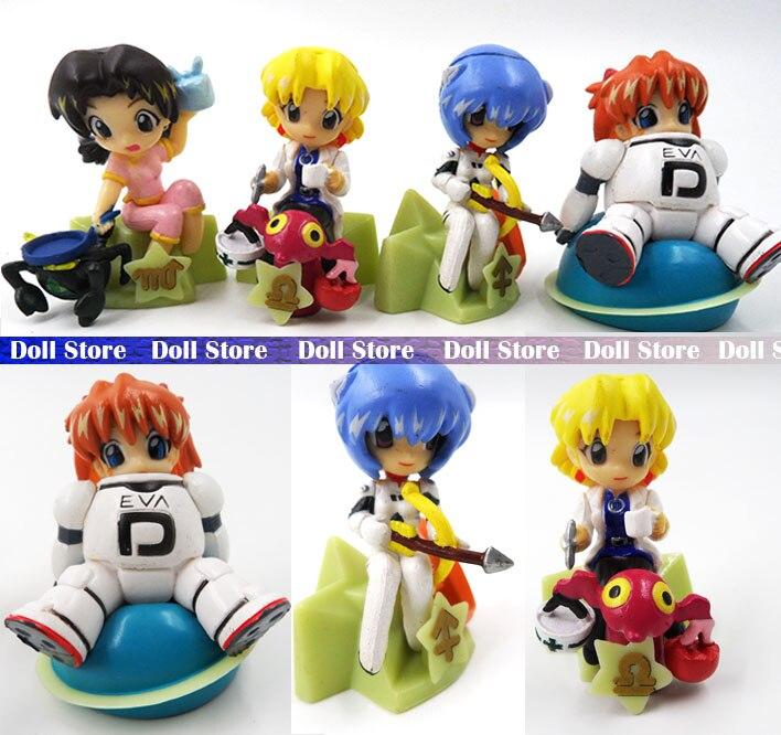 4 шт./лот 5 см ПВХ в версии японского аниме Рисунок EVA Ayanami Rei/Сорю Аска Лэнгли фигурку детские игрушки для девочек