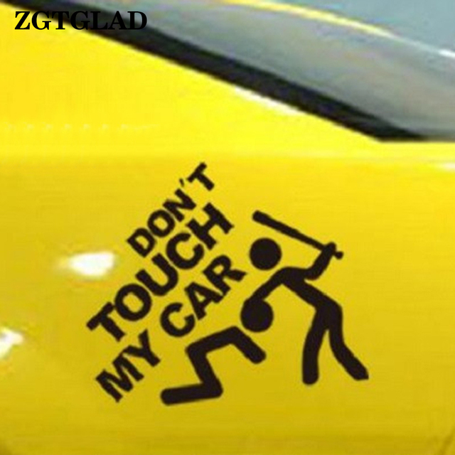 Zgtglad white black dont touch my car sticker creative diy decor wall stickers decal