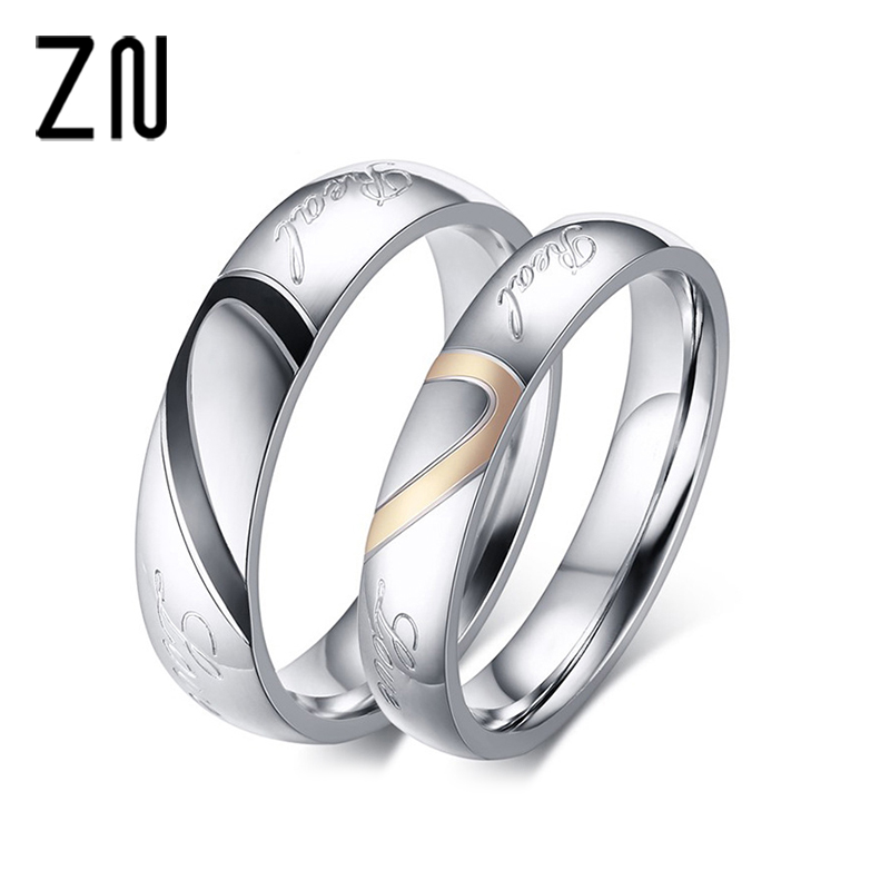 Aliexpress.com : Buy Stainless Steel Couple Ring Jewelry ...
