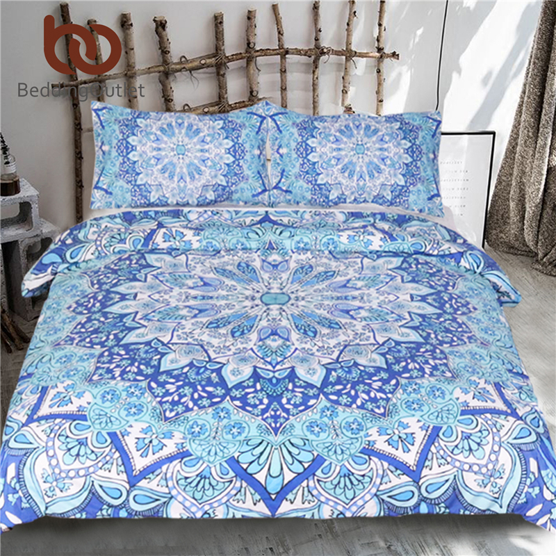 Beddingoutlet 3 Piece Bohemian Bedding Set Floral Paisley