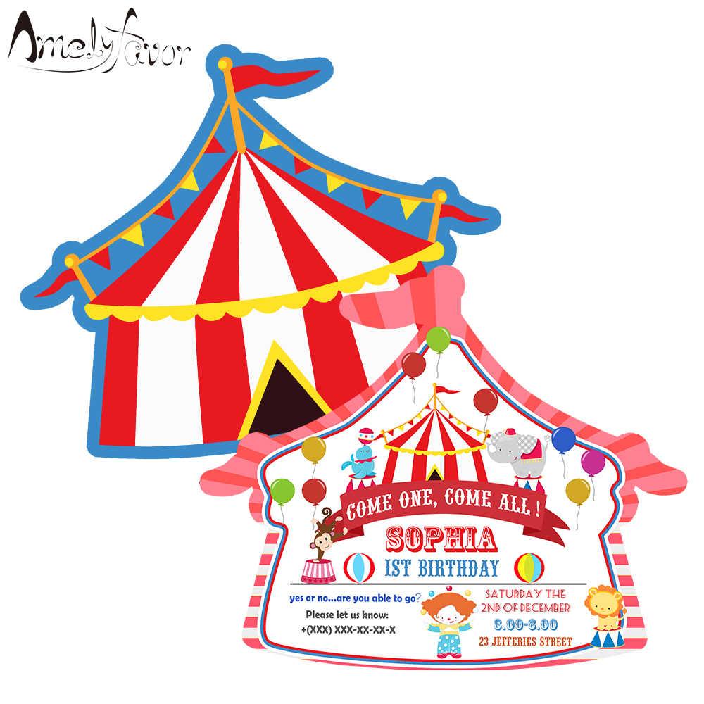 Casa De Circo Temática Invitación Suministros Para Fiestas Y