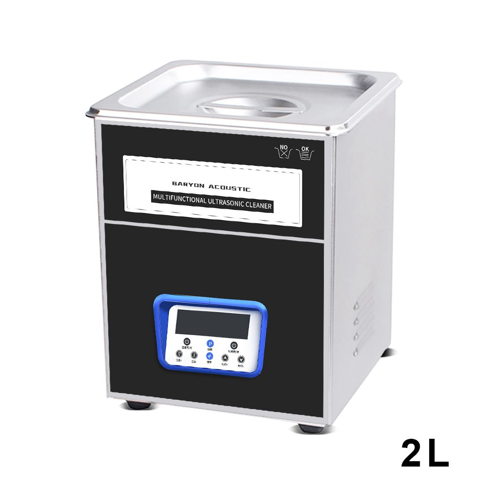 YULU 2L Ultrasonic Cleaner Dual Frequency Stainless Steel Heated Timer adjustment Ultra Sonic Cleaning Machine Fast Shipping