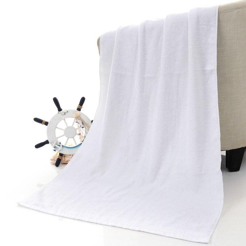 70x180cm Solid Bath Towels White Blue Orange Simple