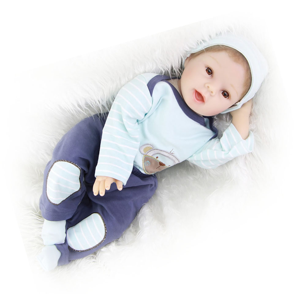55 CM 22 COLLECTION Soft Silicone Reborn Baby Doll High Quality Rooted Hair True To Life Boy Toy Kids Diy Games Xmas Gift