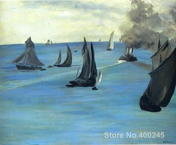 Steamboat leaving Boulogne Paintings by Edouard Manet Portrait art High quality Hand painted