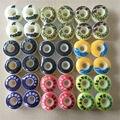 2016 4pcs/Set Pro 52mm  Skateboard Wheels Element Wheels For Mini Cruiser Deck Yellow PU Ruedas Patines Plastic Rodas Skate