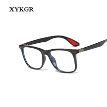 XYKGR new anti-blue glasses mens TR90 frame ladies optical computer eye protection flat mirror square fra