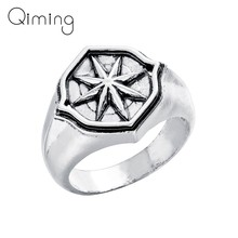 Star Compass Amulet Ring Vintage Hip hop Party Nordic Slavic Pagan Ring Handmade Jewelry Gift Men Women Bague Anel(China)