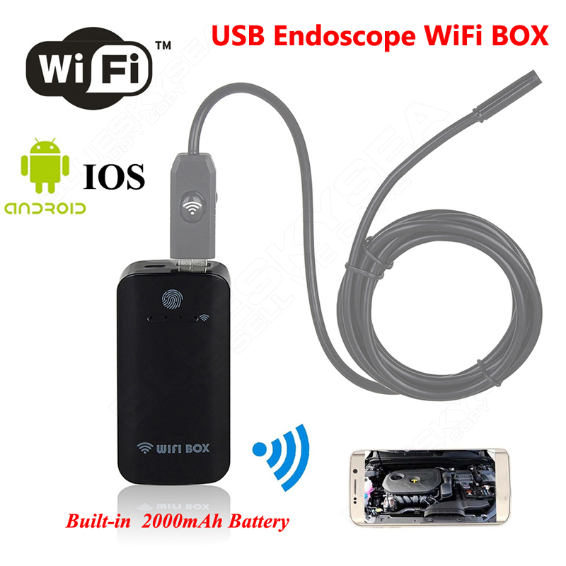 Free shipping!Wireless Wifi Box For USB Endoscope Inspection Camera Built-in 2000mAh battery For IOS Android Windows детская игрушка new wifi ios