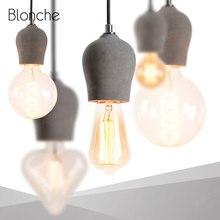 Lámpara colgante de cemento Industrial lámpara colgante Vintage para baño comedor sala de estar lámpara colgante Loft Decoración Accesorios de luz