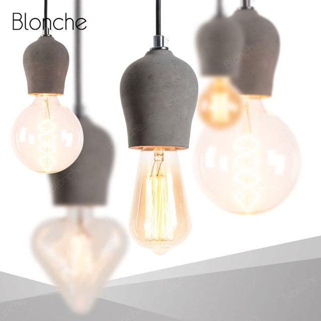 colgante de Industrial lámpara cemento Lámpara Más barato gy76bf