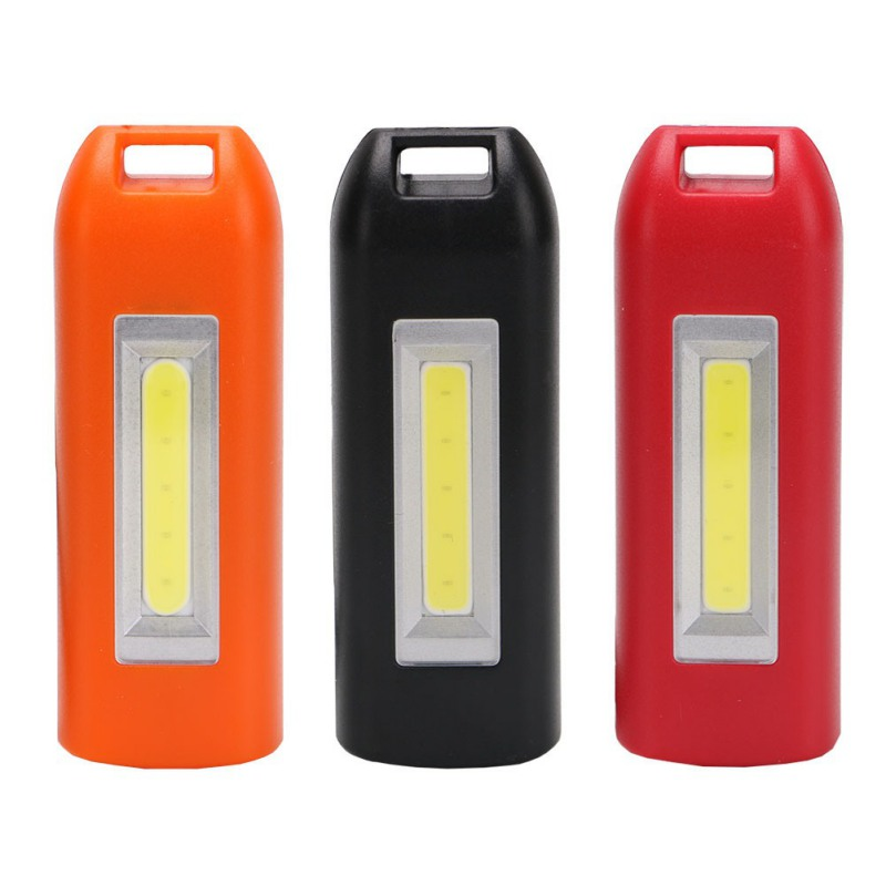 Hot 3 Color Mini Multifunctional USB Charging LED Keychain  LED Lights  Black Red Orange