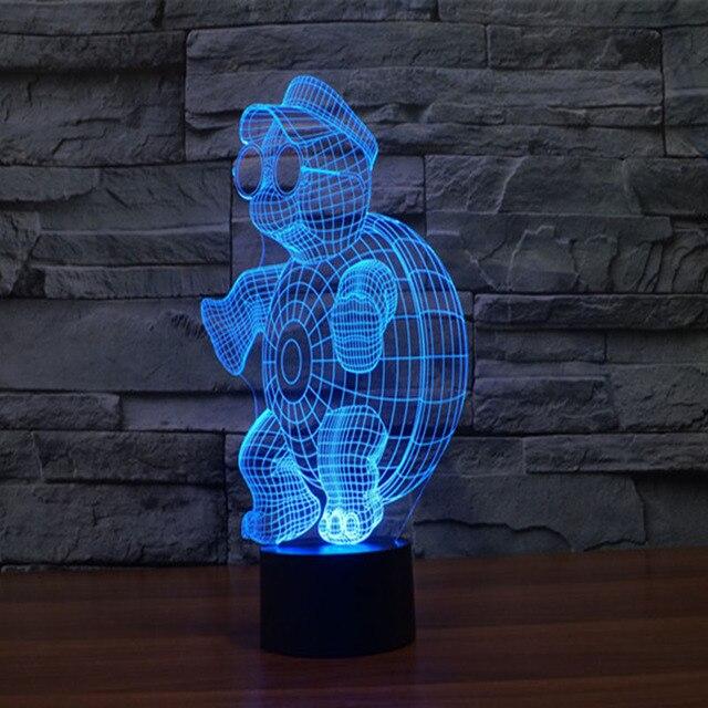 Neue Kreative Ninja Schildkrte 3d Nachtlicht Dreidimensionale LED Licht Kinder Wohnzimmer Tischlampe Bulbing Lampe