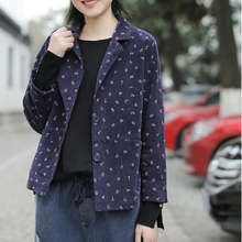 Spring jackets Women Loose Fashion Corduroy Coat Tops New La