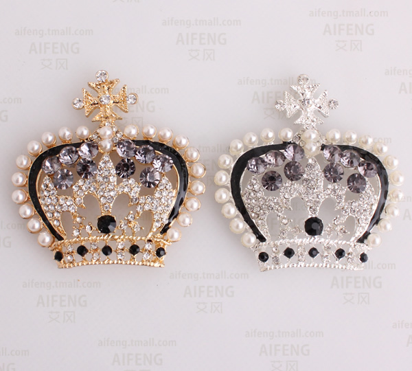 4pcs per lot Alloy Pearl Crystal Crown Cell Phone DIY Alloy Decoration With  Free Shipping 3ababa00dda5