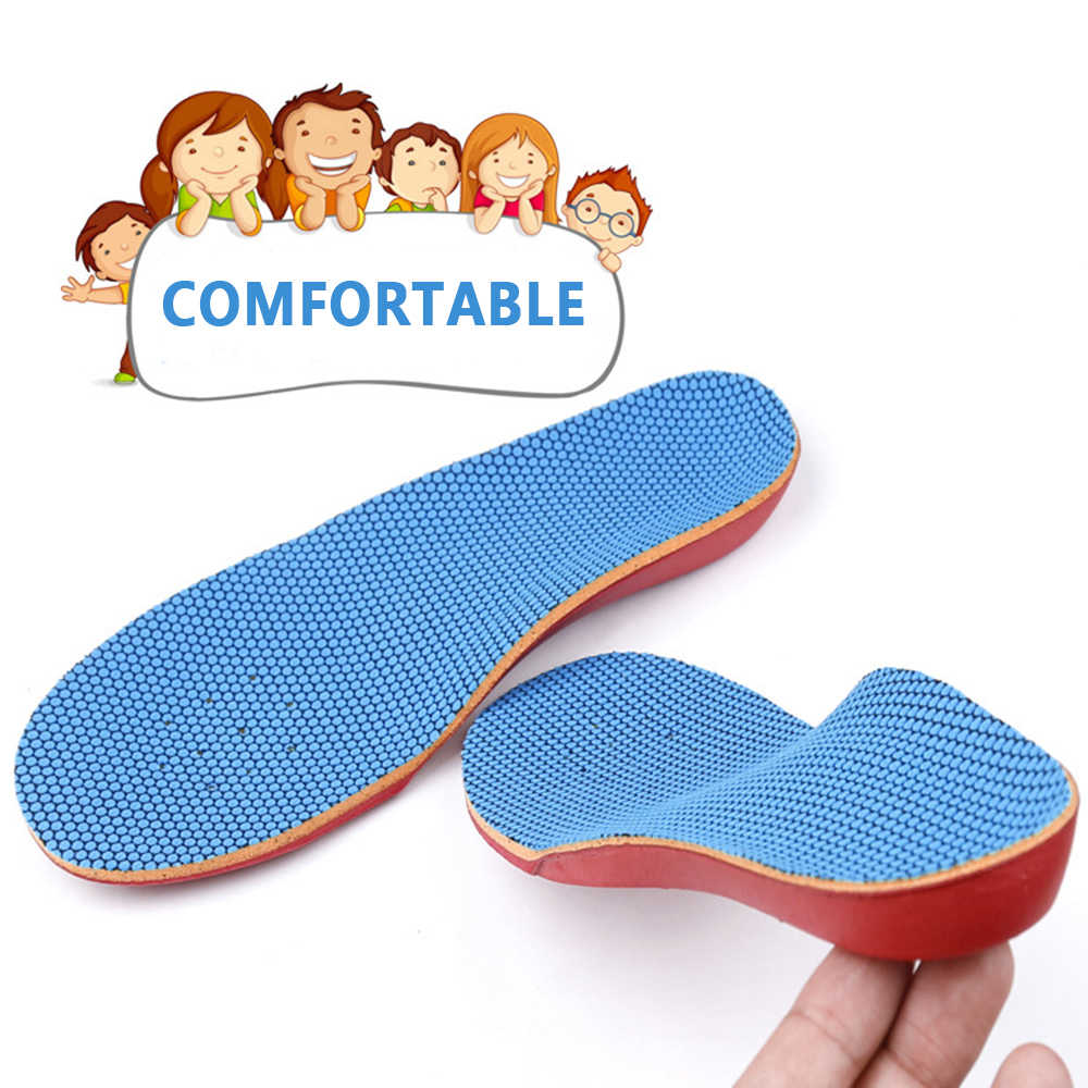 Stretch Breathable Children's insole flat feet inside and outside O / X leg correction orthopedic insoles Orthopedic Pad Foot to