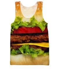 Women men tanks burger tank top cheeseburger summer bbq s hamburger design 3d print vest jersey.jpg 250x250