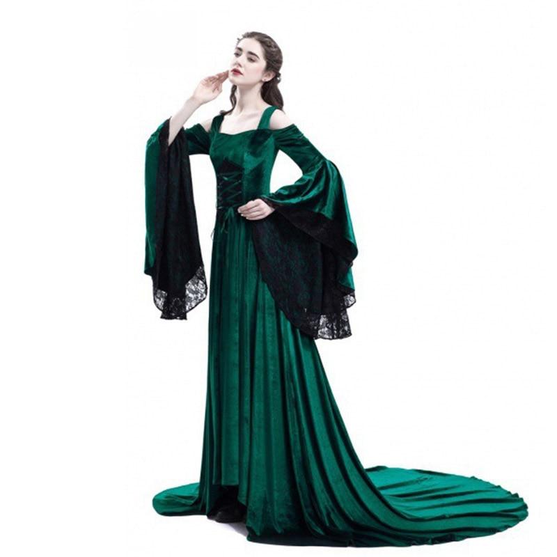 Cosplay Halloween Dress Medieval Palace Princess Dress Adults Women ... 6d8387d9d070