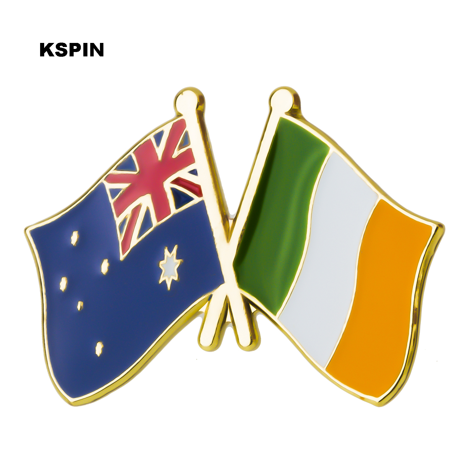 Apparel Sewing & Fabric Australia Ireland Friendship Flag Label Pin Metal Badge Badges Icon Bag Decoration Buttons Brooch For Clothes 1pc Badges