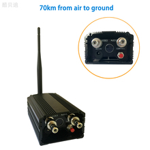 10 KM Jarak jauh Video Nirkabel Pemancar 1.2 GHz wireless video transmitter untuk drone 4 Channel 5 W FPV Transmitter