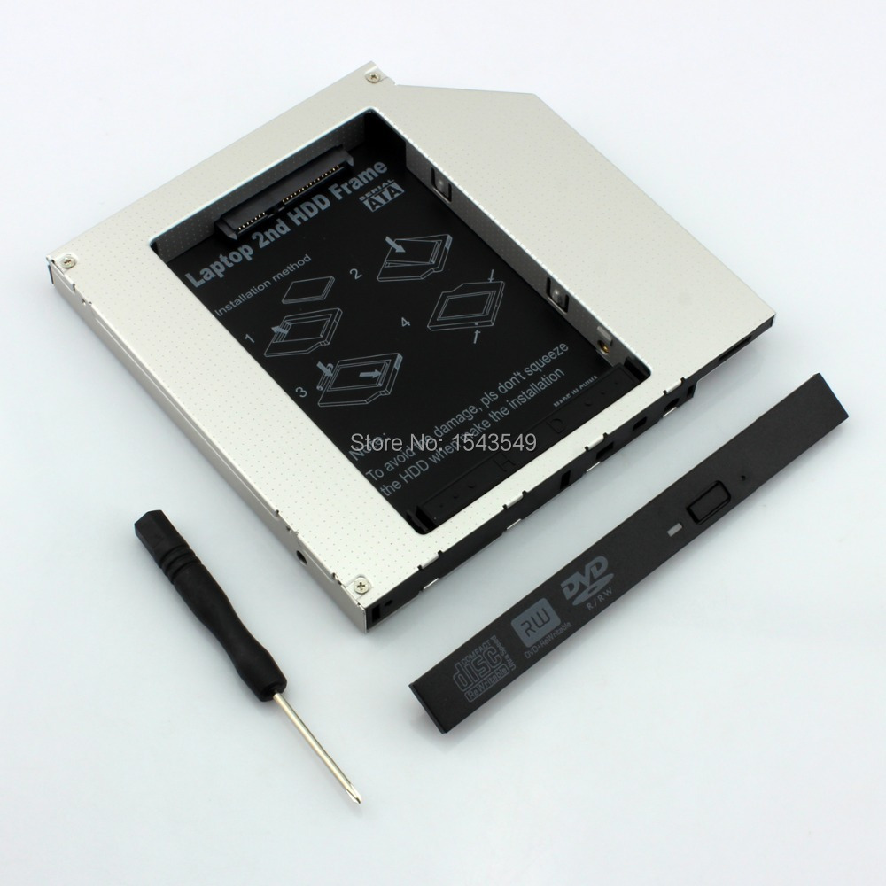 2nd Hard Drive HD SSD Caddy Adapter for HP EliteBook 8560w 8570w 8760w 8770w