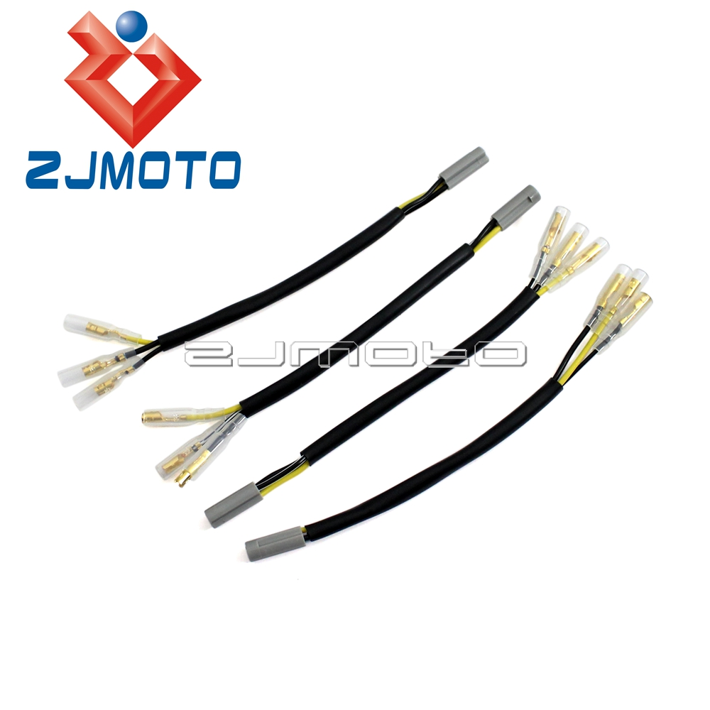 medium resolution of 4x motorcycle oem turn signal wiring adapter plug harness connectors for yamaha yzf r1 r6 fazer fz1 fz6 fz8 xjr fjr mt in covers ornamental mouldings from
