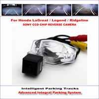 Cámara de marcha atrás inteligente para Honda LaGreat/Legend/Ridgeline retrovisor/580 líneas de TV Guía dinámica las pistas