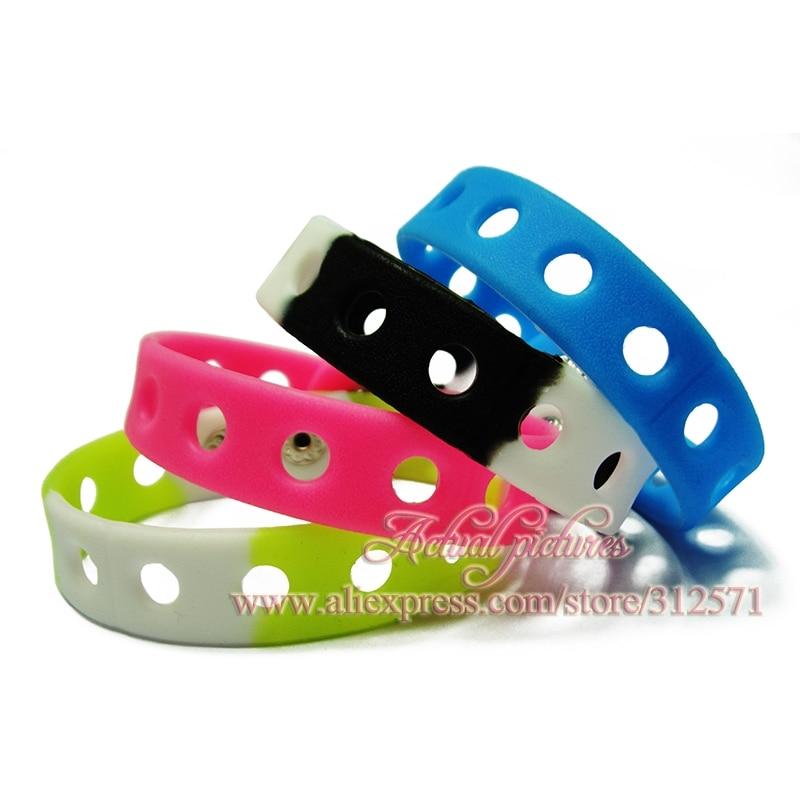 hot 14 styles choose 1pcs Multi color 21cm silicone wristbands bracelets fit shoe charms fashion decoration children gifts
