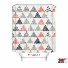 [MIAOJI] <Trendy Geometric Pattern> Minimalist Nordic Style Custom Shower Curtain Bathroom decor various sizes Free Shipping