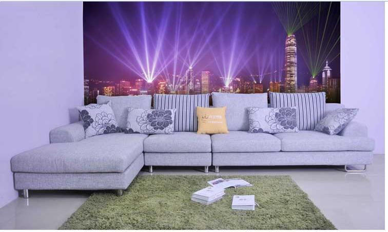 Papel De Parede City Lights Bedroom Living Room Sofa TV Backdrop - City lights wallpaper for bedroom
