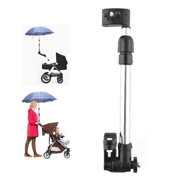 New Baby Pram Bicycle Stroller Chair Umbrella Bar Holder Mount Stand Stroller Accessories kid outdoor clamp parasol clip