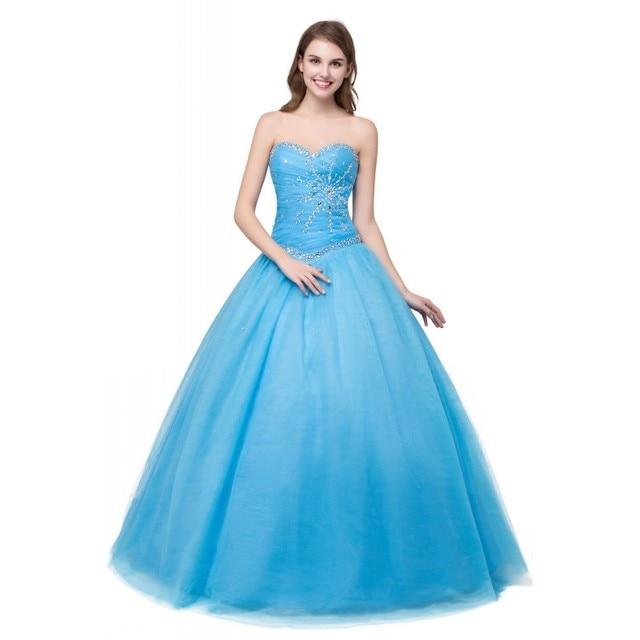 Simple But Elegant 2017 Blue Quinceanera Dresses Sweet Girls