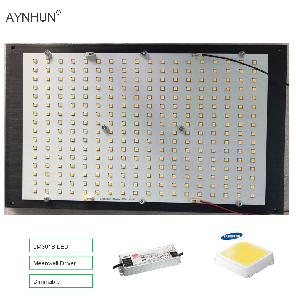 US $146 54 |2019 Newest Dimmable 288 Samsung lm301b 3000K 3500K 660nm Red  Quantum Board Led Grow Light Full Spectrum-in LED Grow Lights from Lights &