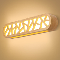 Simple wooden mirror wall light Nordic Chinese corridor balcony wall lamp learning makeup lamp Japan wall lamp MZ81