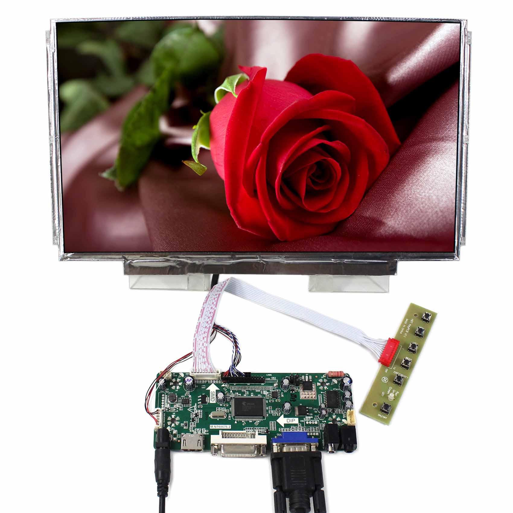 LCD Controller Board LCD Driver HDMI DVI VGA LCD Board 13.3 LCD Screen N133BGE 1366x768 ResolutionLCD Controller Board LCD Driver HDMI DVI VGA LCD Board 13.3 LCD Screen N133BGE 1366x768 Resolution